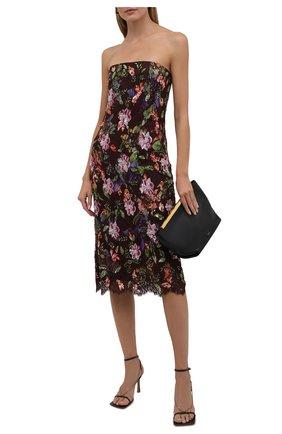 Женское хлопковое платье RALPH LAUREN коричневого цвета, арт. 290840175 | Фото 2 (Материал подклада: Шелк; Материал внешний: Хлопок; Стили: Романтичный; Женское Кросс-КТ: платье-футляр; Длина Ж (юбки, платья, шорты): До колена; Рукава: С открытыми плечами; Случай: Повседневный)