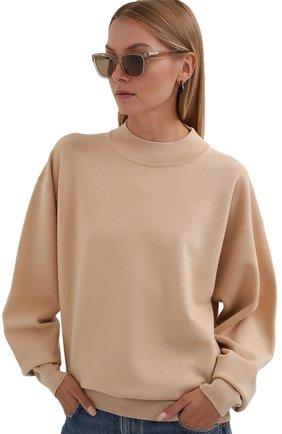 Женские солнцезащитные очки LORO PIANA светло-бежевого цвета, арт. FAL4920   Фото 2
