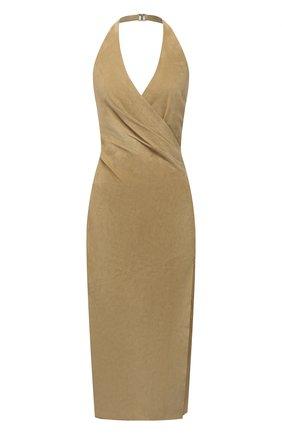 Женское замшевое платье RALPH LAUREN бежевого цвета, арт. 290845558   Фото 1
