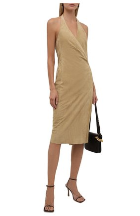 Женское замшевое платье RALPH LAUREN бежевого цвета, арт. 290845558   Фото 2