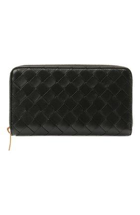 Женские кожаный кошелек BOTTEGA VENETA черного цвета, арт. 608053/VCPP2 | Фото 1