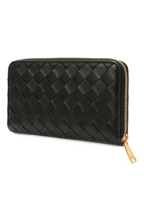 Женские кожаный кошелек BOTTEGA VENETA черного цвета, арт. 608053/VCPP2 | Фото 2