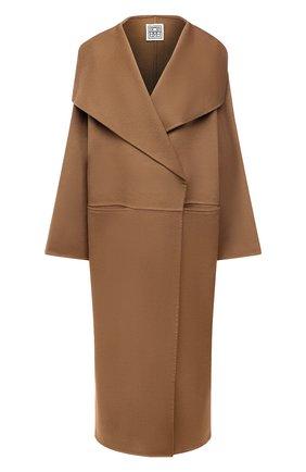 Женское пальто из шерсти и кашемира TOTÊME коричневого цвета, арт. 211-110-717 | Фото 1