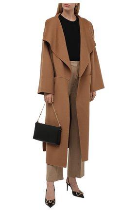 Женское пальто из шерсти и кашемира TOTÊME коричневого цвета, арт. 211-110-717 | Фото 2