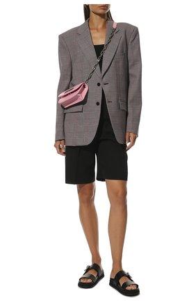 Женские кожаные шлепанцы marga JIMMY CHOO черного цвета, арт. MARGA FLAT/ZXU | Фото 2