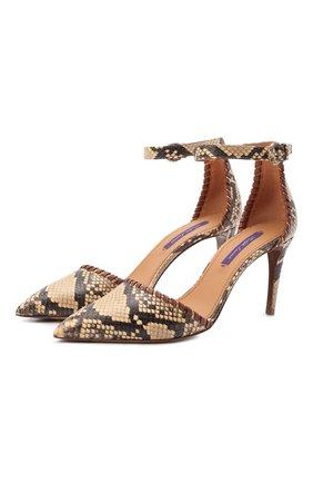 Женские кожаные туфли claryn RALPH LAUREN коричневого цвета, арт. 800854795   Фото 1