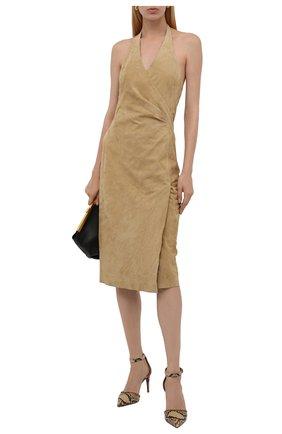 Женские кожаные туфли claryn RALPH LAUREN коричневого цвета, арт. 800854795   Фото 2