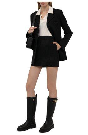 Женские кожаные сапоги valais BALLY черного цвета, арт. GAILA/00 | Фото 2