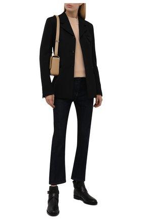 Женские кожаные ботинки new pryle BURBERRY черного цвета, арт. 8042370 | Фото 2 (Материал внутренний: Натуральная кожа; Подошва: Плоская; Каблук высота: Низкий)