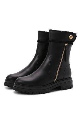 Женские кожаные ботинки GIANVITO ROSSI черного цвета, арт. G73377.20G0M.CLYNENE | Фото 1