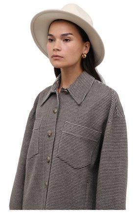 Женская шерстяная шляпа POLO RALPH LAUREN кремвого цвета, арт. 455849488 | Фото 2