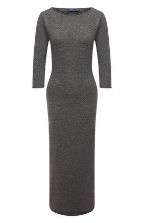 Женское кашемировое платье POLO RALPH LAUREN серого цвета, арт. 211827866 | Фото 1