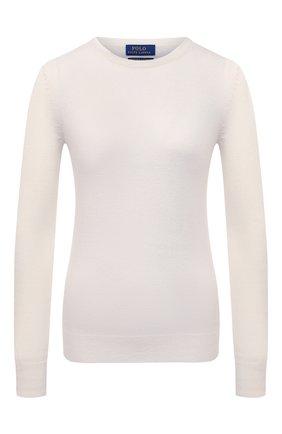 Женский кашемировый пуловер POLO RALPH LAUREN кремвого цвета, арт. 211780391 | Фото 1