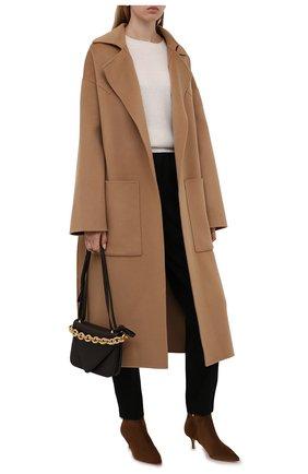 Женский кашемировый пуловер POLO RALPH LAUREN кремвого цвета, арт. 211780391 | Фото 2