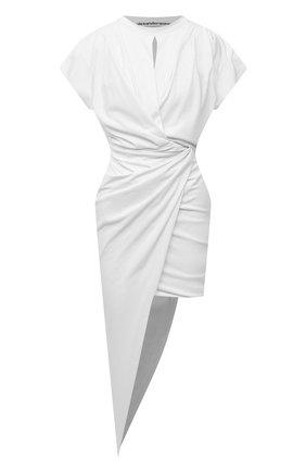 Женское хлопковое платье ALEXANDER WANG белого цвета, арт. 1CC3216391   Фото 1