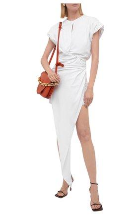 Женское хлопковое платье ALEXANDER WANG белого цвета, арт. 1CC3216391   Фото 2