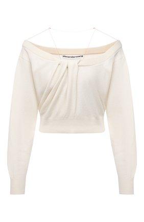 Женский пуловер из шерсти и вискозы ALEXANDER WANG кремвого цвета, арт. 1KC2201003   Фото 1