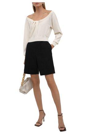 Женский пуловер из шерсти и вискозы ALEXANDER WANG кремвого цвета, арт. 1KC2201003   Фото 2