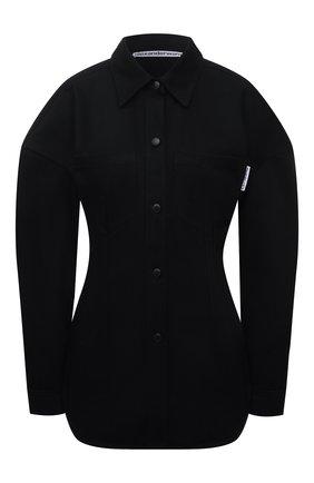 Женская хлопковая рубашка ALEXANDER WANG черного цвета, арт. 1WC3211496   Фото 1