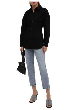 Женская хлопковая рубашка ALEXANDER WANG черного цвета, арт. 1WC3211496   Фото 2