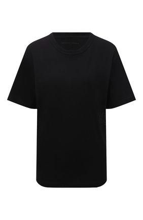 Женская хлопковая футболка ALEXANDERWANG.T черного цвета, арт. 4CC3211281 | Фото 1