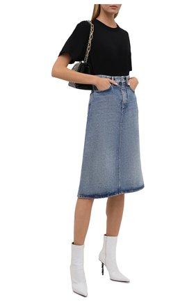 Женская хлопковая футболка ALEXANDERWANG.T черного цвета, арт. 4CC3211281 | Фото 2