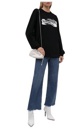 Женская хлопковый лонгслив ALEXANDER WANG черного цвета, арт. UCC3211444   Фото 2