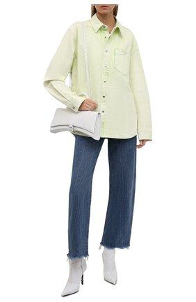 Женская джинсовая рубашка ALEXANDER WANG зеленого цвета, арт. UDC3212993   Фото 2