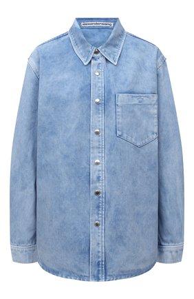 Женская джинсовая рубашка ALEXANDER WANG светло-голубого цвета, арт. UDC3212993 | Фото 1