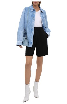 Женская джинсовая рубашка ALEXANDER WANG светло-голубого цвета, арт. UDC3212993 | Фото 2