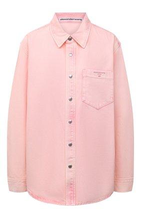 Женская джинсовая рубашка ALEXANDER WANG розового цвета, арт. UDC3212993   Фото 1