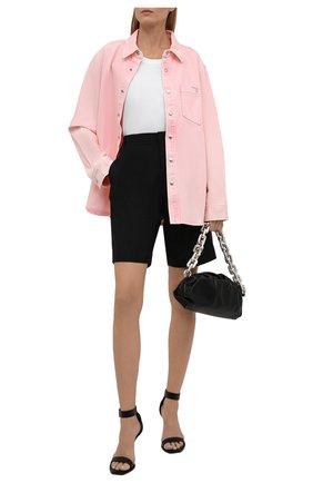 Женская джинсовая рубашка ALEXANDER WANG розового цвета, арт. UDC3212993   Фото 2