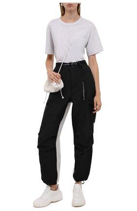 Женские джоггеры ALEXANDER WANG черного цвета, арт. UWC3214005   Фото 2