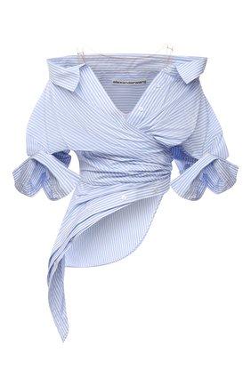 Женская рубашка ALEXANDER WANG голубого цвета, арт. 1WC3211485 | Фото 1