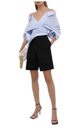 Женская рубашка ALEXANDER WANG голубого цвета, арт. 1WC3211485 | Фото 2