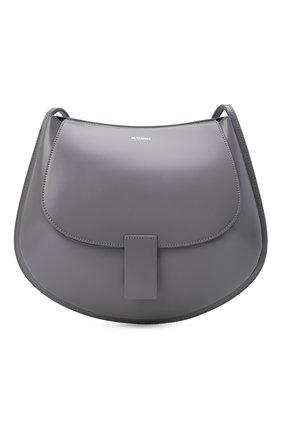Женская сумка crescent JIL SANDER черного цвета, арт. JSPT853402-WTB69159N   Фото 1 (Размер: medium; Материал: Натуральная кожа; Сумки-технические: Сумки через плечо)