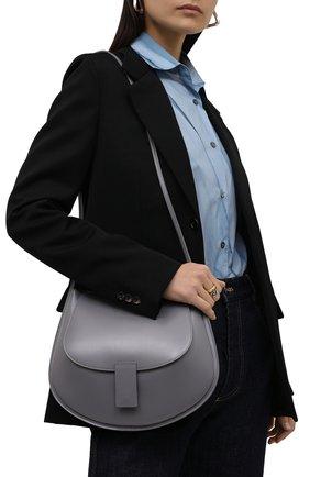 Женская сумка crescent JIL SANDER черного цвета, арт. JSPT853402-WTB69159N   Фото 2 (Размер: medium; Материал: Натуральная кожа; Сумки-технические: Сумки через плечо)
