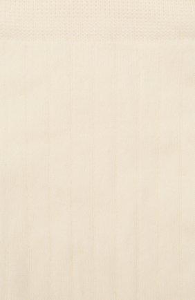 Женские хлопковые носки JIL SANDER кремвого цвета, арт. JPPT766020-WTY25158 | Фото 2