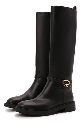 Женские кожаные сапоги ribbon cavalier GIANVITO ROSSI черного цвета, арт. G80345.20G0M.VIPNER0 | Фото 1