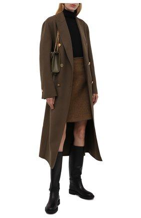 Женские кожаные сапоги ribbon cavalier GIANVITO ROSSI черного цвета, арт. G80345.20G0M.VIPNER0 | Фото 2