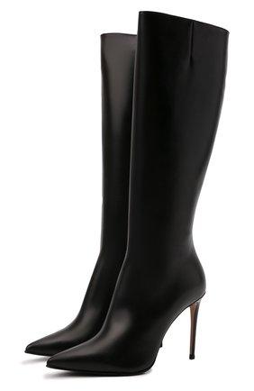 Женские кожаные сапоги stivale eva 100 LE SILLA черного цвета, арт. 2142R090R1PPMIN   Фото 1