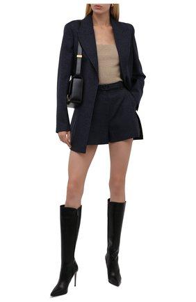 Женские кожаные сапоги stivale eva 100 LE SILLA черного цвета, арт. 2142R090R1PPMIN   Фото 2