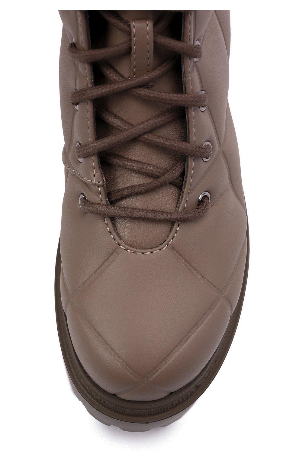Женские комбинированные ботинки ranger LE SILLA серого цвета, арт. 6410T020M1PPFAK   Фото 5 (Материал внешний: Экокожа, Текстиль; Подошва: Платформа, Плоская; Каблук высота: Низкий; Женское Кросс-КТ: Военные ботинки; Материал внутренний: Натуральная кожа)