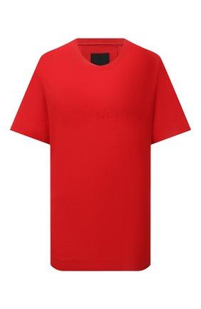 Женская хлопковая футболка GIVENCHY красного цвета, арт. BW707Z30NH | Фото 1