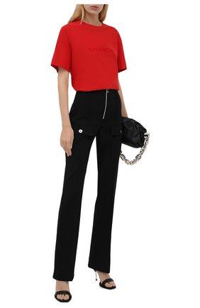 Женская хлопковая футболка GIVENCHY красного цвета, арт. BW707Z30NH | Фото 2