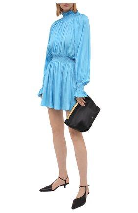 Женское платье MSGM голубого цвета, арт. 3141MDA39A 217618 | Фото 2