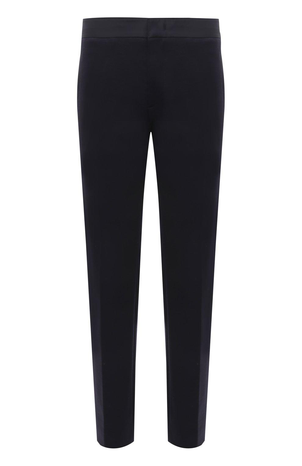 Мужские брюки BOGNER темно-синего цвета, арт. 18406508   Фото 1 (Материал внешний: Шерсть, Синтетический материал; Длина (брюки, джинсы): Стандартные; Случай: Повседневный; Стили: Кэжуэл)
