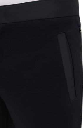 Мужские брюки BOGNER темно-синего цвета, арт. 18406508   Фото 5 (Материал внешний: Шерсть, Синтетический материал; Длина (брюки, джинсы): Стандартные; Случай: Повседневный; Стили: Кэжуэл)