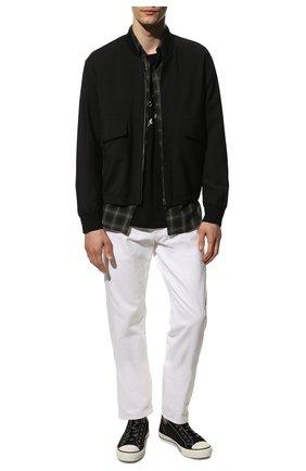 Мужские текстильные кеды giggies VALENTINO черного цвета, арт. WY2S0D57/MBU | Фото 2