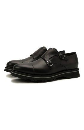 Мужские кожаные монки BERLUTI серого цвета, арт. S5527-001   Фото 1
